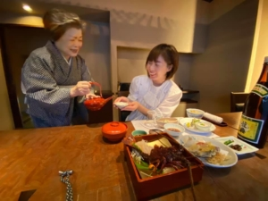 臼杵の喜楽庵「日本のお正月料理」取材
